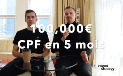 100K€ de chiffre d'affaires sur CPF en 5 mois